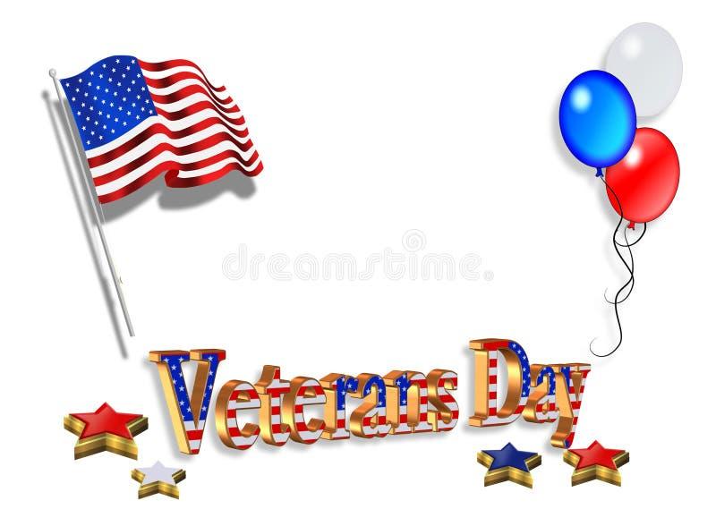 Veteranen-Tageshintergrund 3D lizenzfreie abbildung