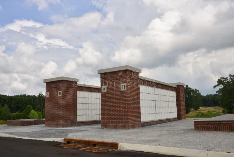 Veteranenbegraafplaats Masoleum Parker Crossroads stock afbeelding