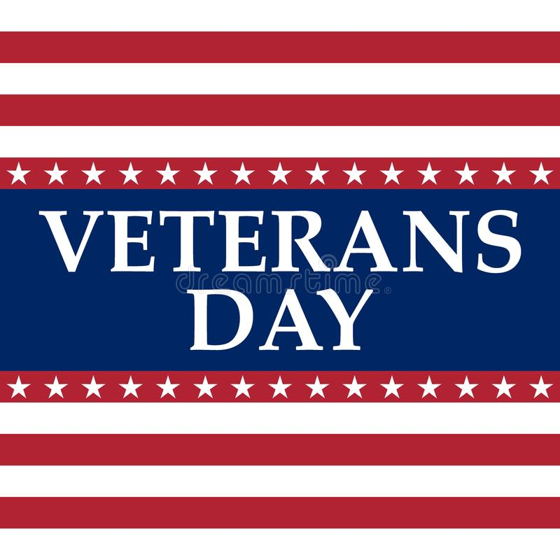 Veteranendag in de Verenigde Staten van Amerika vector illustratie