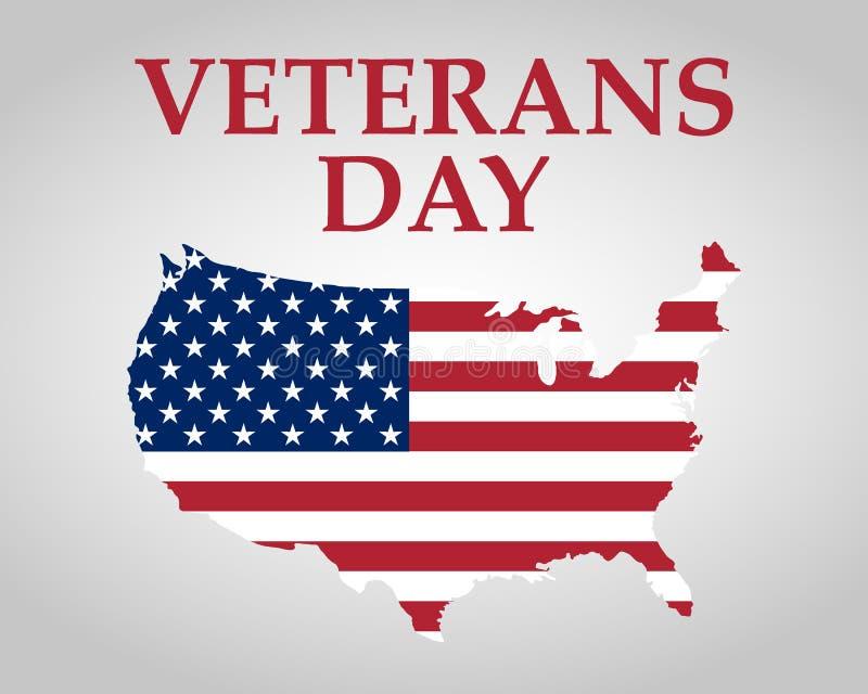 Veteranendag in de Verenigde Staten van Amerika stock illustratie