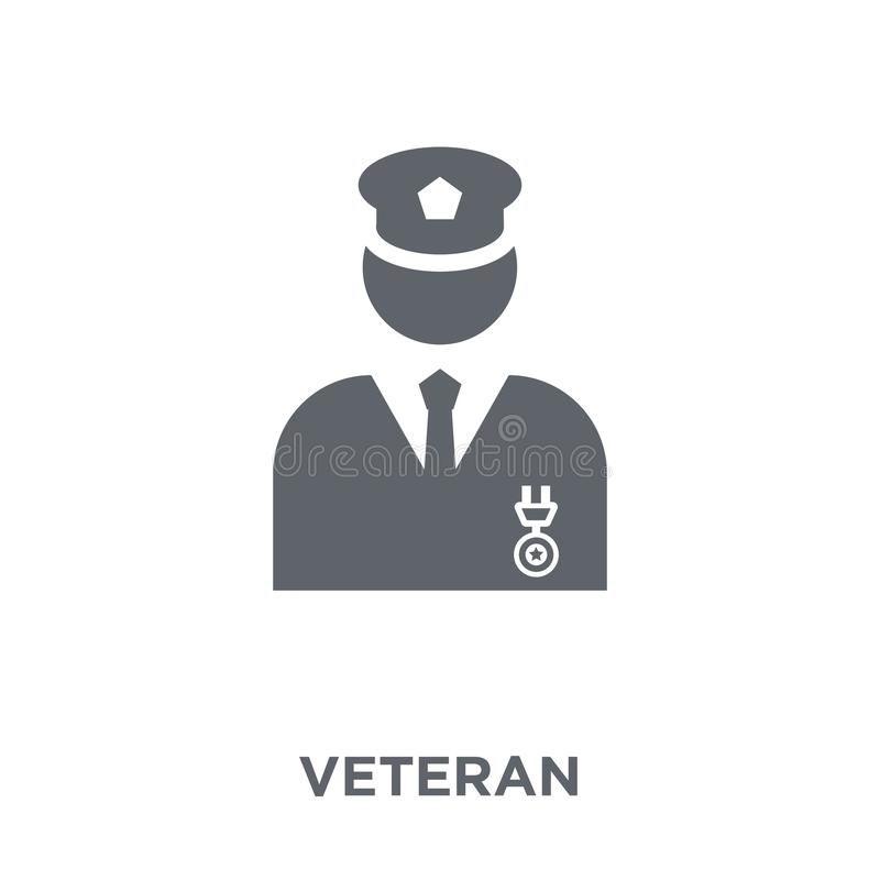 Veteranenikone von der Armeesammlung lizenzfreie abbildung