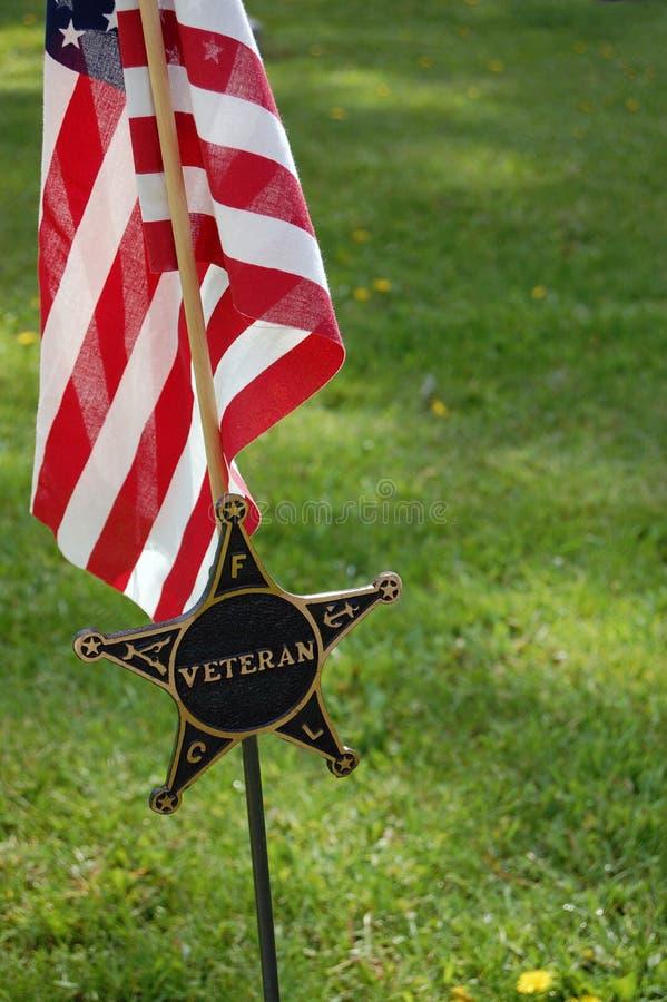Veteranenmarkierungsfahne lizenzfreies stockfoto