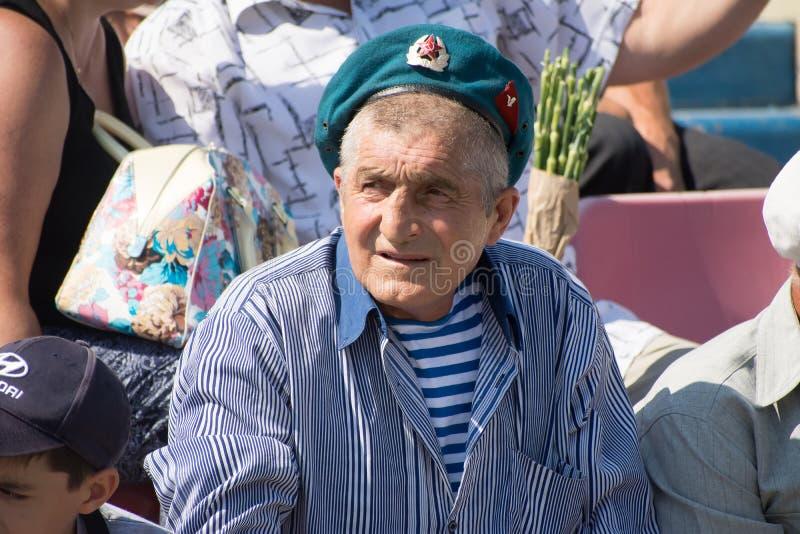 Veterano das tropas transportadas por via aérea imagens de stock