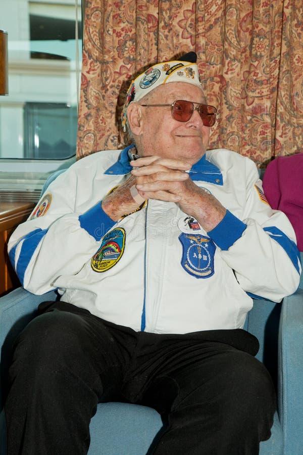 Veterano do ataque do Pearl Harbor foto de stock