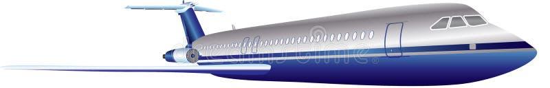 Veterano Jet Airliner ilustração do vetor