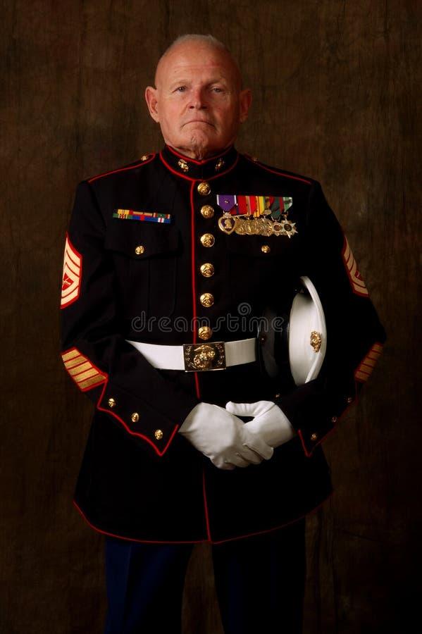 Veterano marina foto de archivo libre de regalías
