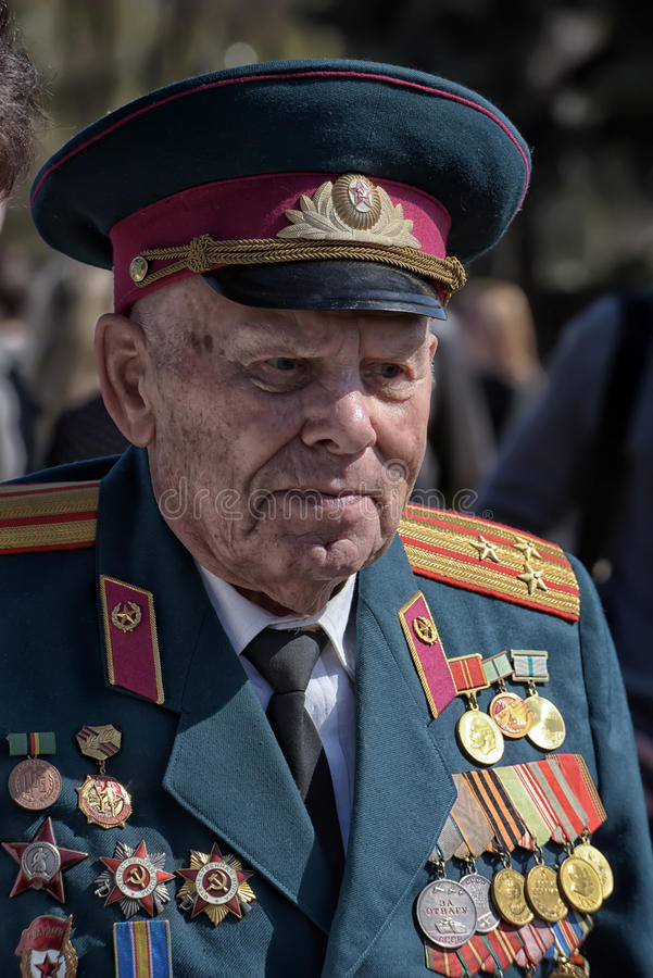 Veteranos das guerras fotografia de stock