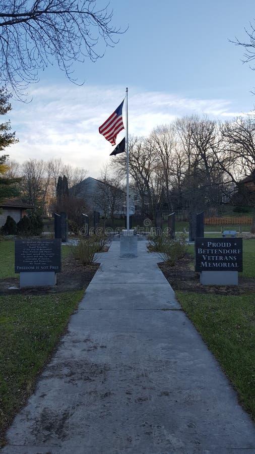 Veteranos de Bettendorf conmemorativos imágenes de archivo libres de regalías