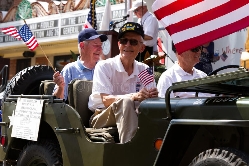 Veteranos de Guerra da Coreia fotos de stock royalty free