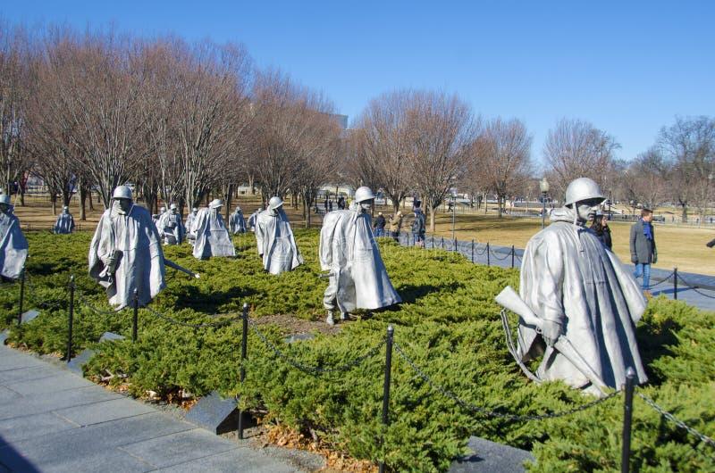 Veteranos de la Guerra de Corea conmemorativos foto de archivo libre de regalías