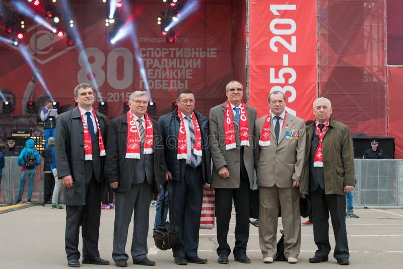 Veteranos de la sociedad Spartak de los deportes fotografía de archivo