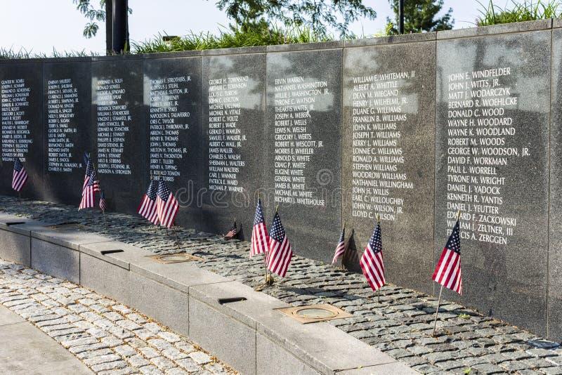 Veteranos de Philadelphia Vietnam conmemorativos fotos de archivo libres de regalías