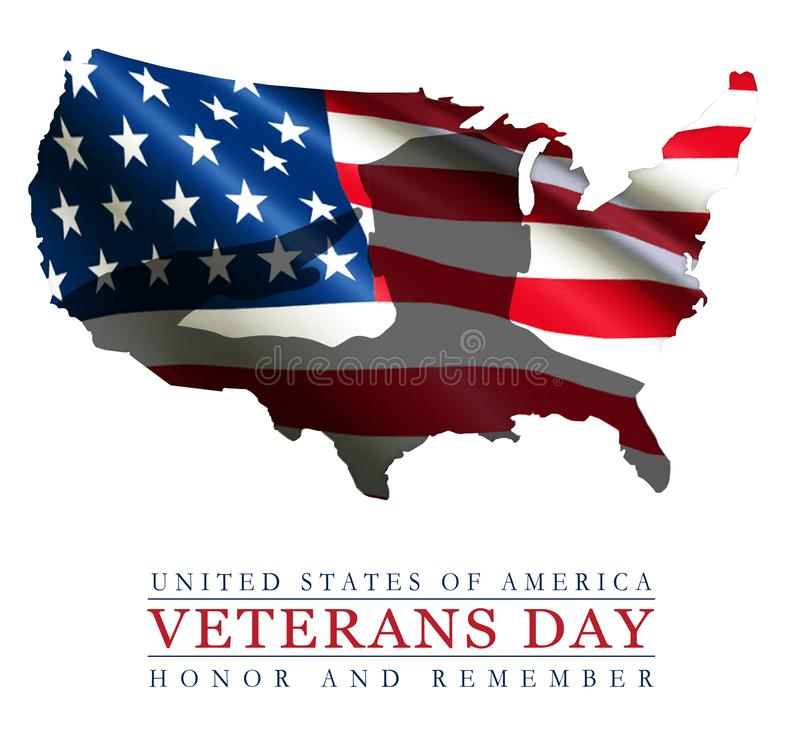 Veterans Day Art Logo American Flag USA Outline. Veterans Day art logo American flag soldier salute heroes USA military service holiday remember