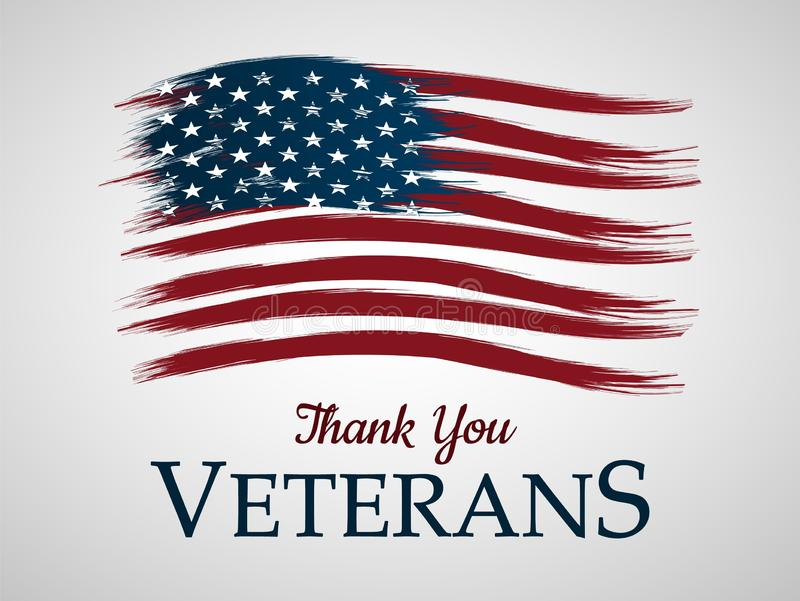 Veterans day background. Thank You.Vector illustration royalty free stock image