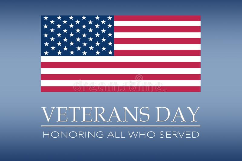 Veterans day banner stock photo