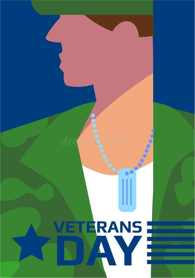 Veterans Day concept vector illustration royalty free illustration