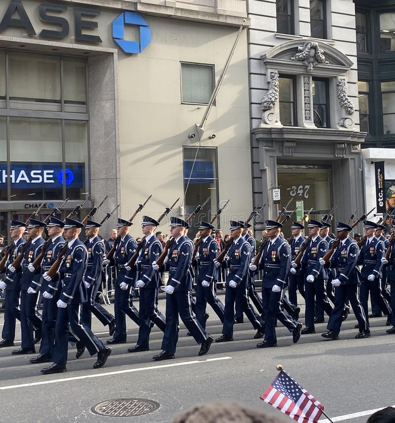 Veterans Day Parade!. Veterans Day Parade in Manhattan Ny royalty free stock images