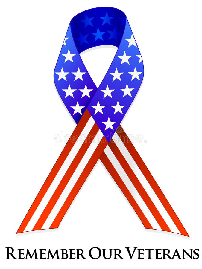 Veterans Day Ribbon royalty free illustration