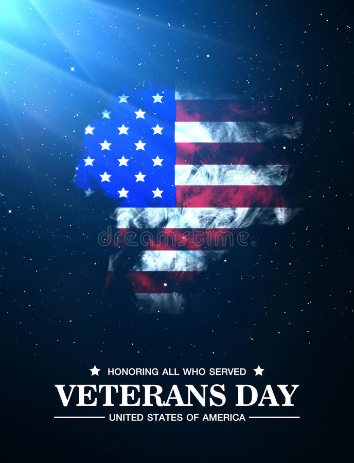 Veterans Day. United states of america royalty free illustration