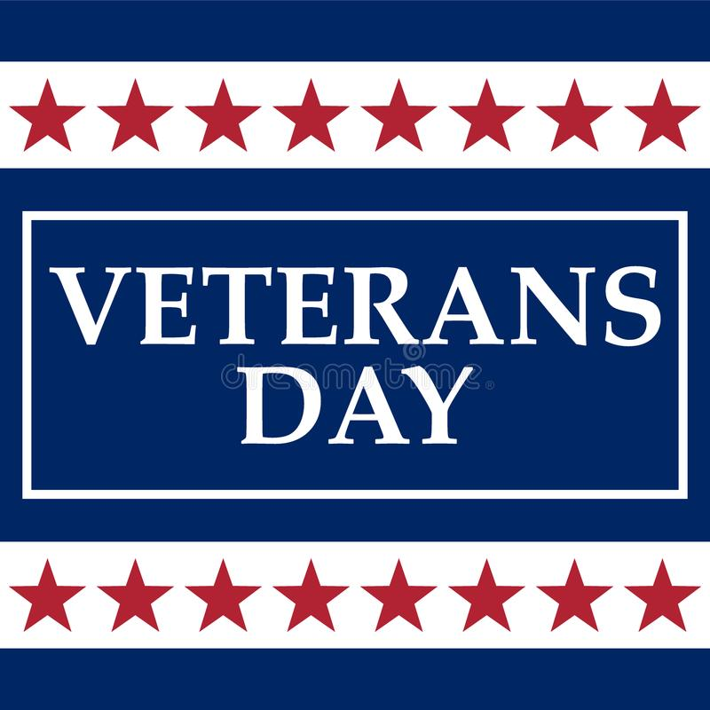 Veterans Day in the United States of America stock illustration