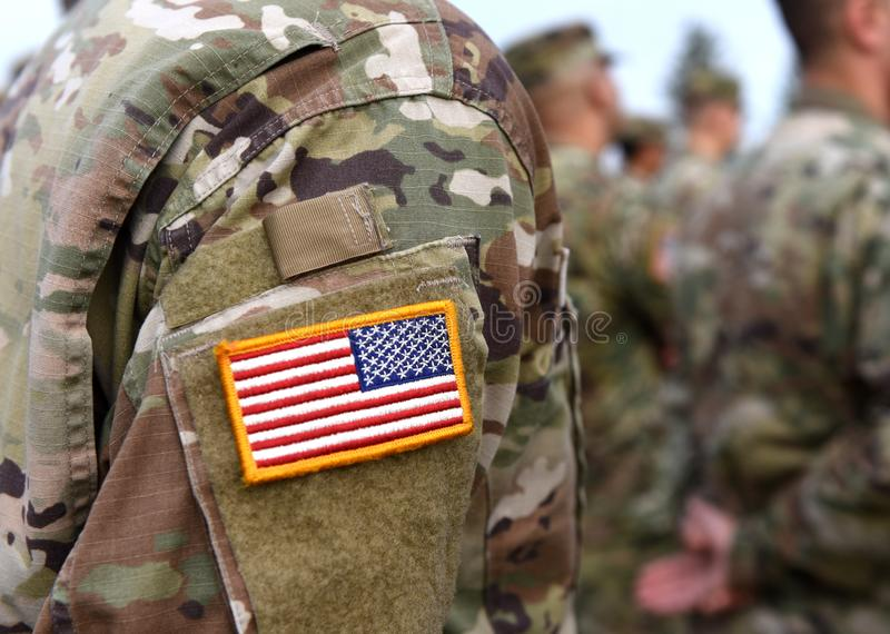 Veterans Day. US soldiers arm. US Army. US troops. stock photos
