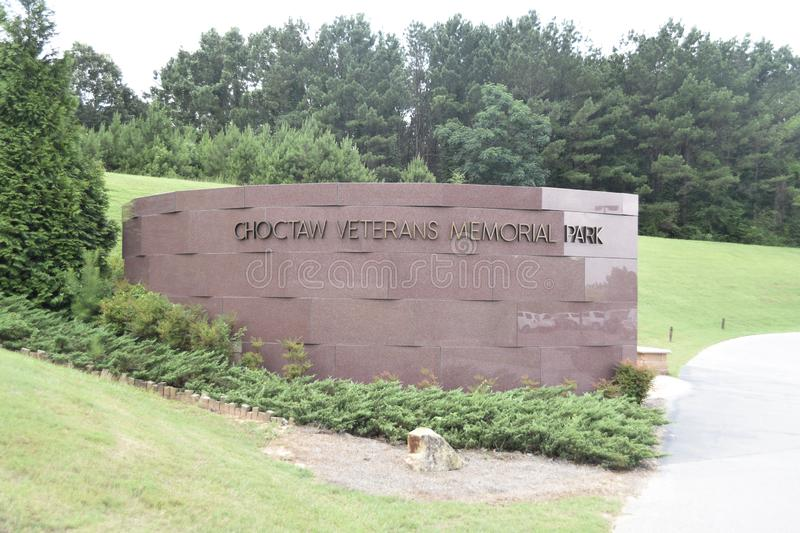 Choctaw Veterans Memorial Park, Choctaw, Mississippi stock image