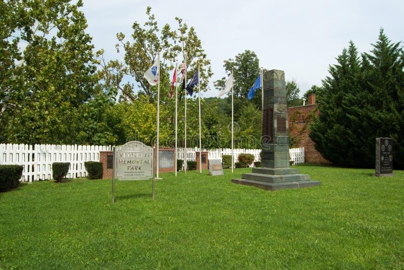 Veterans Memorial Park. Clifton Forge, VA – September 15th: Veterians Memorial Park in Clifton Forge, VA on September 15, 2014, Virginia, USA stock photos
