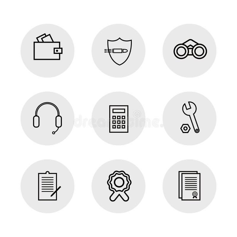 Veterinário dos ícones lisos para comercial, econômicos, assuntos da segurança Usado no local, para logotipos ilustração stock