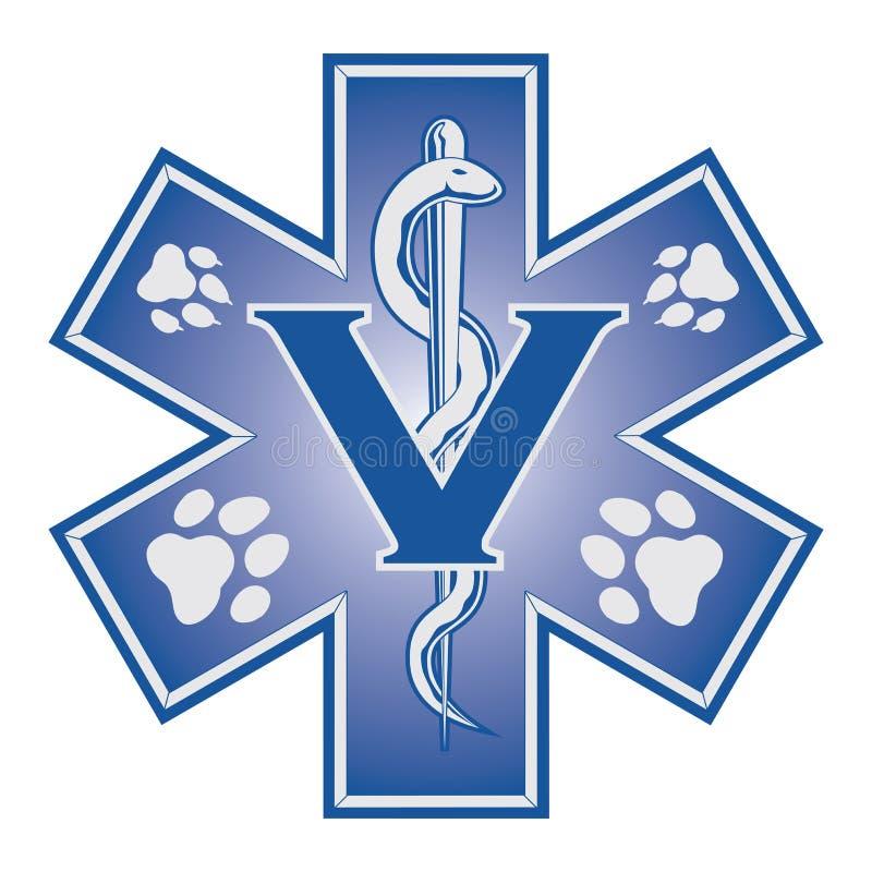 Veterinário Emergency Medical Symbol ilustração stock