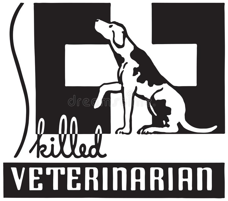 Veterinário especializado ilustração stock