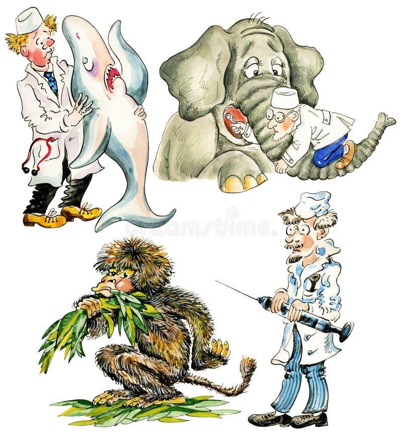 Veterinários engraçados ilustração stock