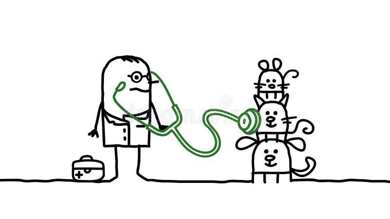 veterinär- royaltyfri illustrationer