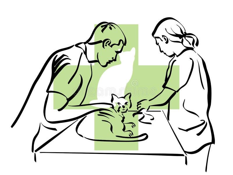 Veterinär royaltyfri illustrationer