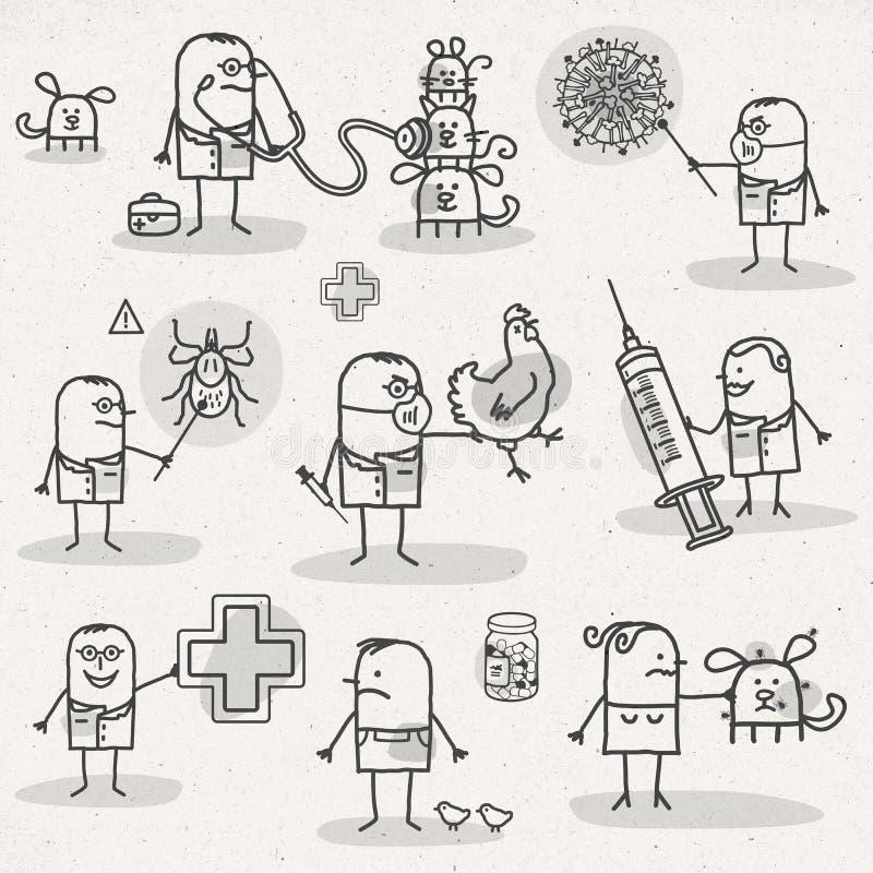 veterinär- vektor illustrationer