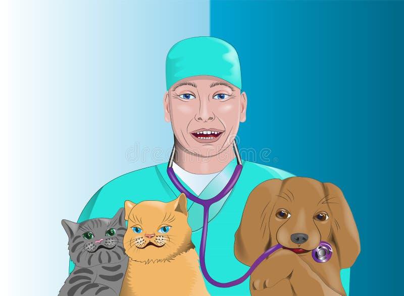 Veterinär- klinik stock illustrationer