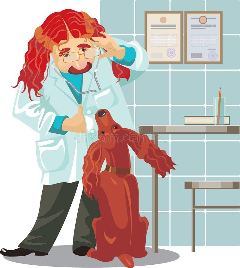 Veterinär- klinik royaltyfri illustrationer