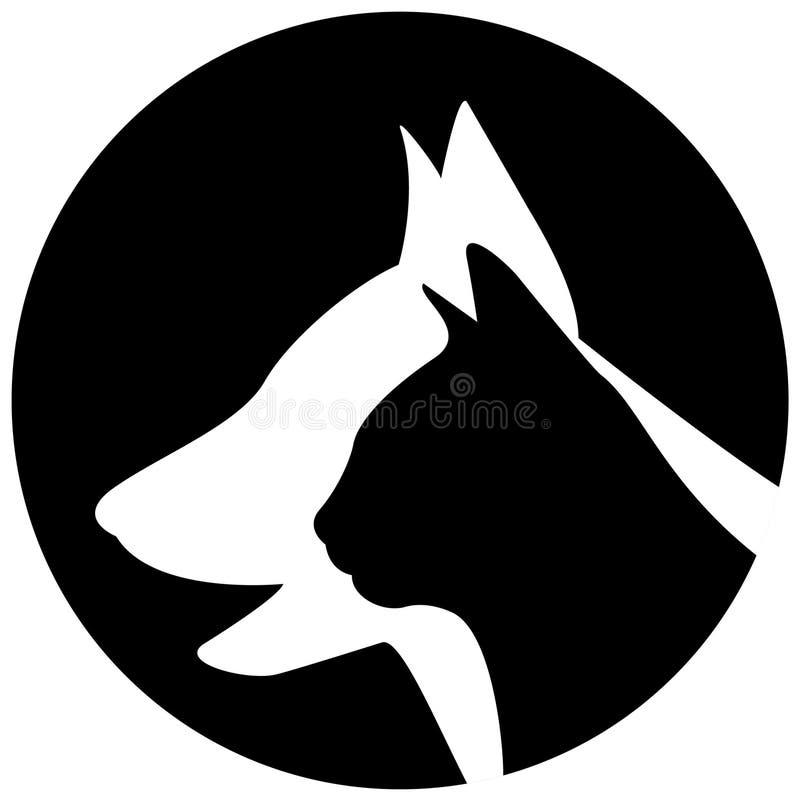 veterinär- logo vektor illustrationer