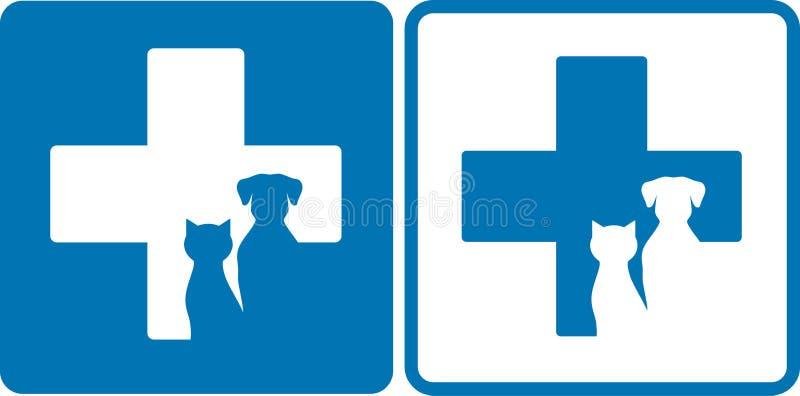 Veterinär- symbol royaltyfri illustrationer