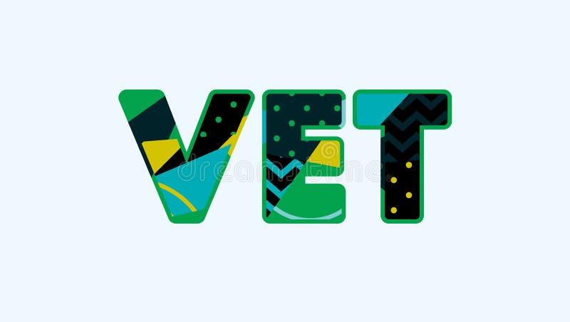 Veterinärbegreppsord Art Illustration vektor illustrationer