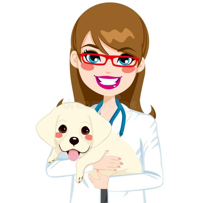 Veterinair Hugging Puppy vector illustratie