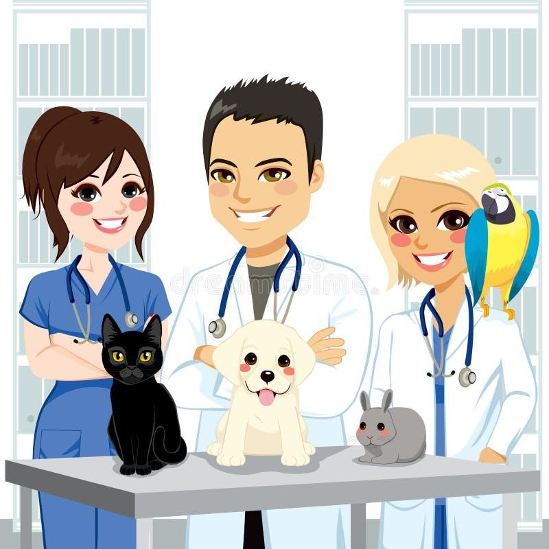 Veterinair Team Pets stock illustratie