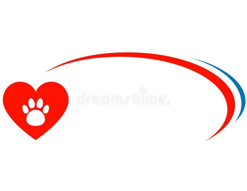 Veterinaire achtergrond met hart stock illustratie