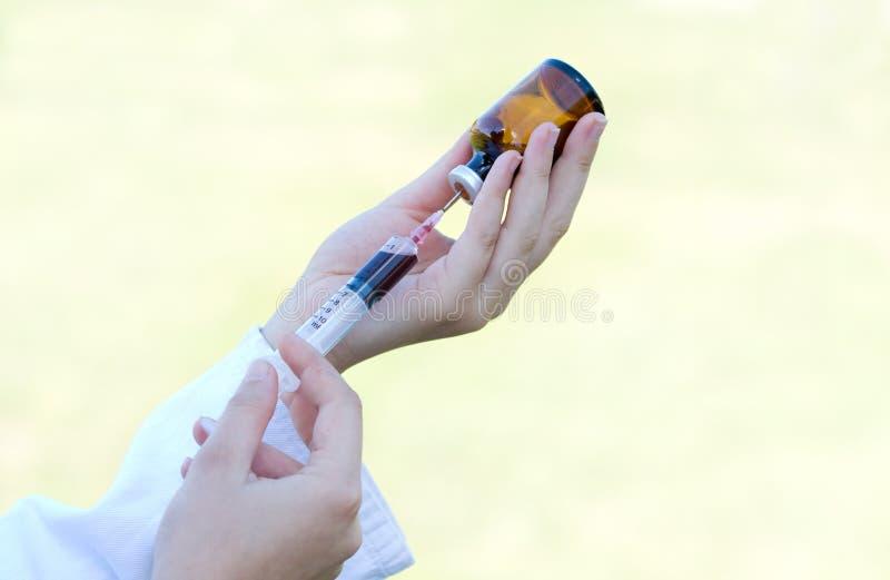 Veterinaire injectie royalty-vrije stock afbeelding