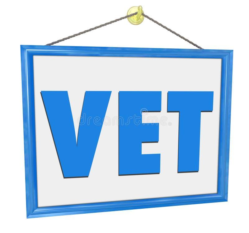 Veterinarian Clinic Medical Office Animal Pet Doctor Sign stock illustration