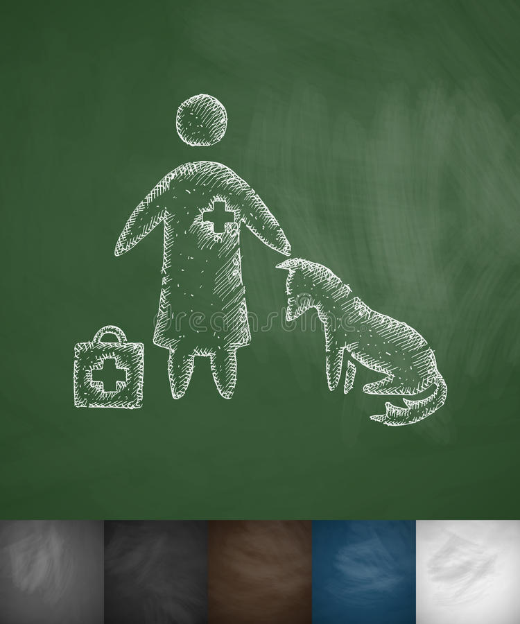 Veterinarian and dog icon stock illustration