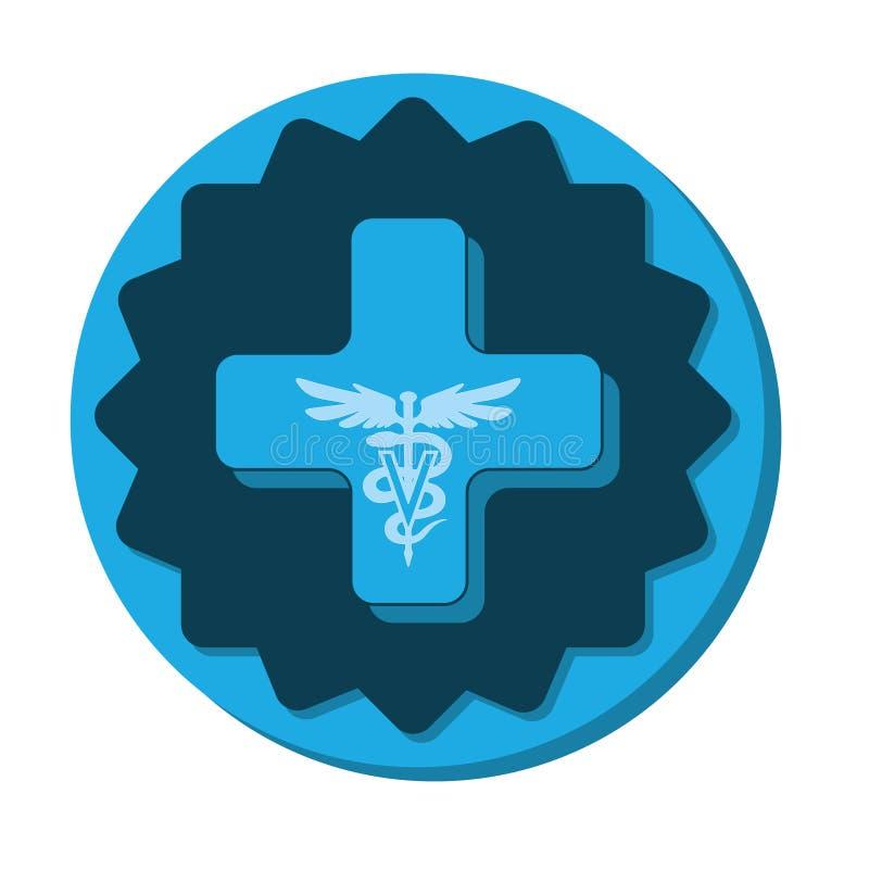 Veterinary care symbol - logo caduceus. Veterinary care symbol - white isolate vector illustration