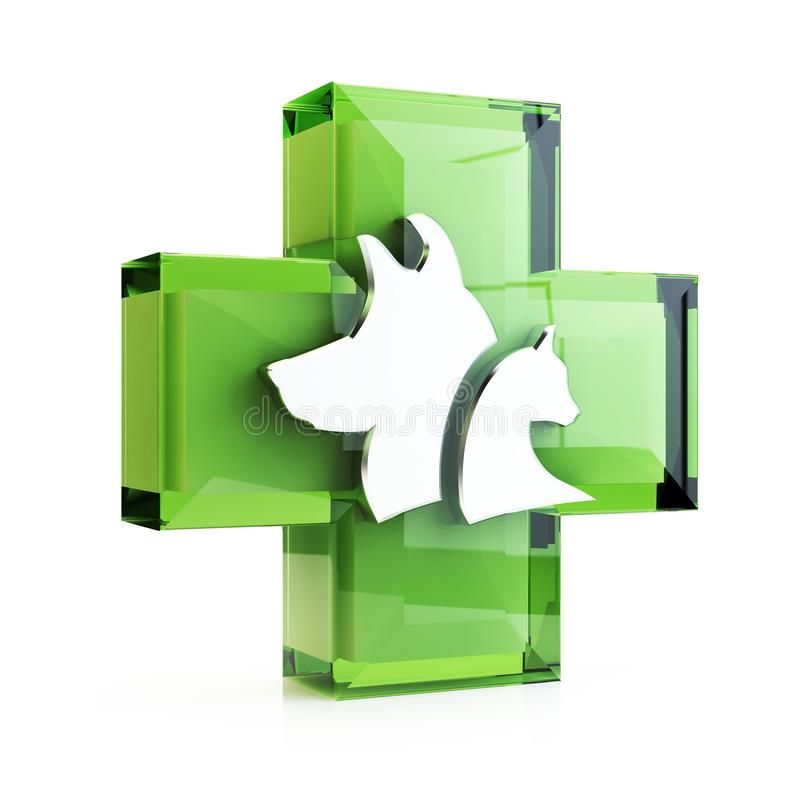 Veterinary cross, 3D illustration royalty free stock images