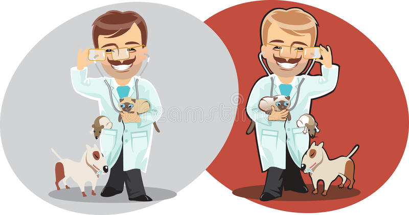 Download Veterinary man stock vector. Image of stethoscope, pose - 24560771