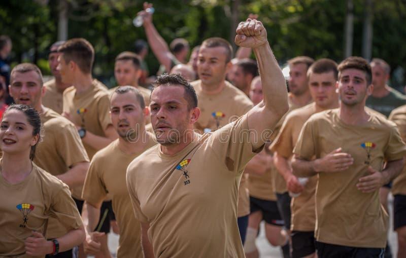 VeteRun, το τρέξιμο βετερανών πολέμου, Βουκουρέστι, Ρουμανία στοκ εικόνες