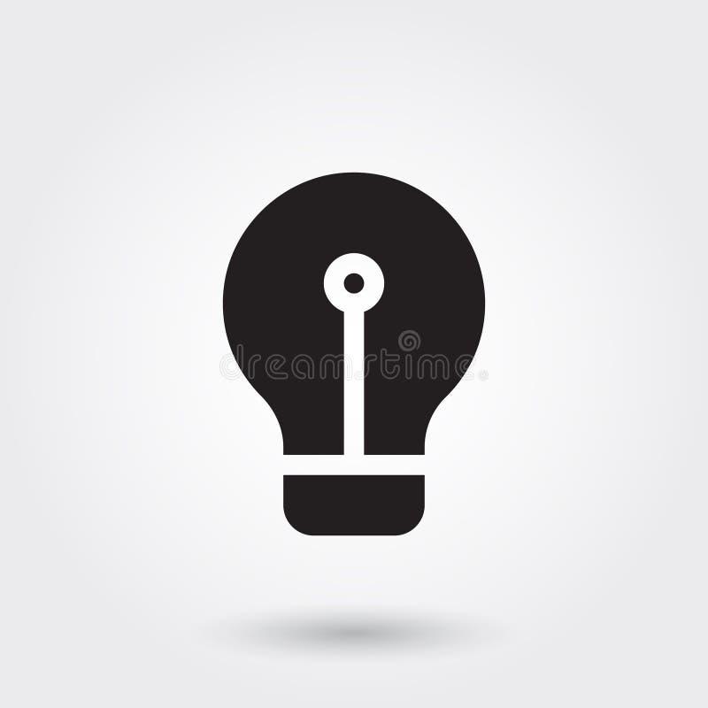 Vetor, ícone do Glyph da ampola da ideia do negócio perfeito para o Web site, apps móveis, apresentação ilustração royalty free